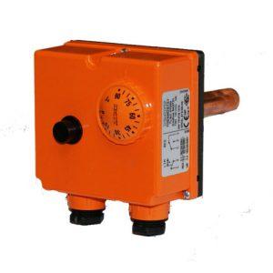 Regulátor teploty s bezpečnostným termostatom  0-90°C