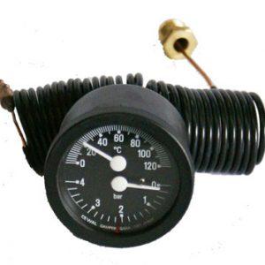 Teplomer s tlakomerom 120°c / 4 bar