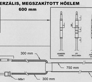 Univerzálny termoelektrický článok 600mm
