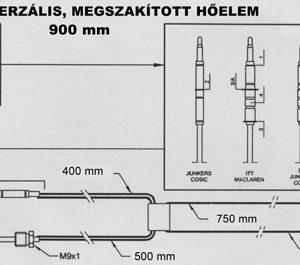 Univerzálny prerušovaný termoelektrický článok 900mm