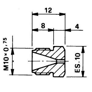 Tryska d 2,70 M10x0,75