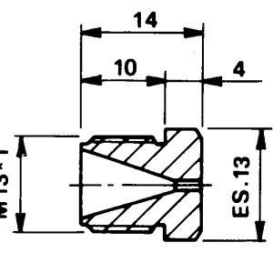 Tryska d 0,00 M13x1
