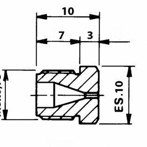 Tryska d 1,40 M8x0,75